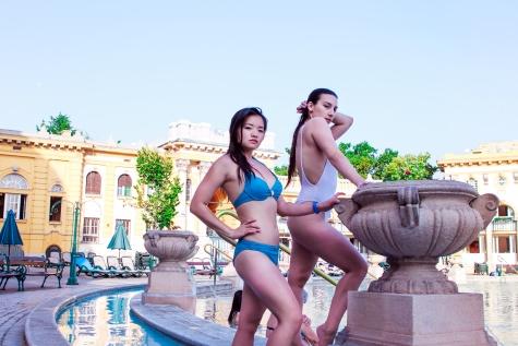 Poshtash and Claudia Musikal at the Szechenyi Bathes