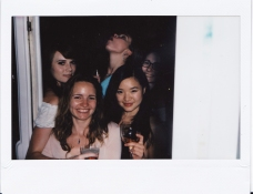 Polaroid during dinner at the Four Seasons Gresham Palace