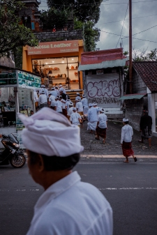 People walking to a ceremony in Ubud